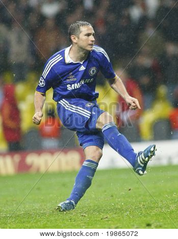 Frank Lampard at the Champions League Final held at Luzhniki Stadium Moscow 21 May 2008 and contested by Manchester United v Chelsea FC