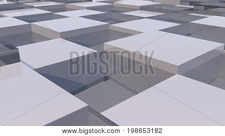 Abstract background with realistic cubes. 3d rendered