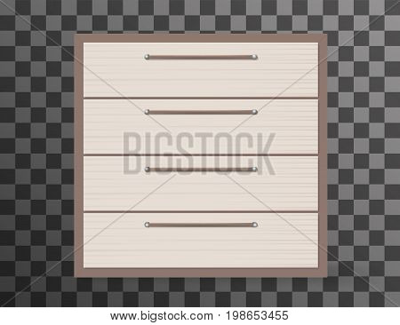Commode realistic design on transparent background. Vector illustration