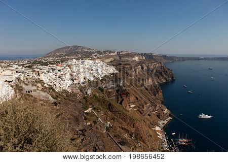 City of Thira (Fira) - the capital of the island of Santorini Greece