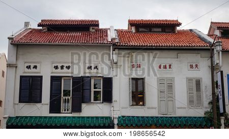 Old Buildings At Chinatown In Singapore