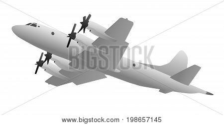 Naval Anti-Submarine and Maritime Surveillance Military Airplane