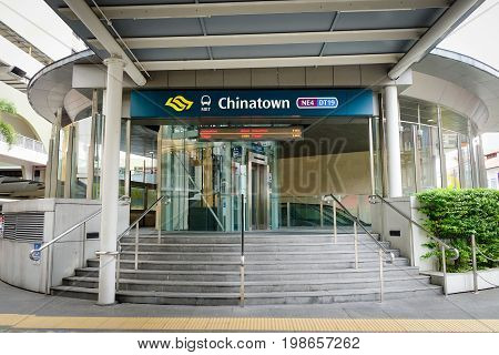 Chinatown Station In Singapore