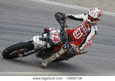 MILAN ITALY JUNE 24 Chris Hodgson GB at the FIM Supermoto World Championship CASTELLETTO DI BRANDUZZO ITALY
