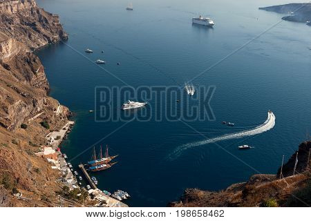 Berth of Santorini island, Thira (Fira) Greece