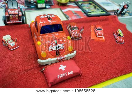 Serdang, Selangor Malaysia - July 29,2017 : Collectable Scale Models Of Volkswagen Cars On Display D