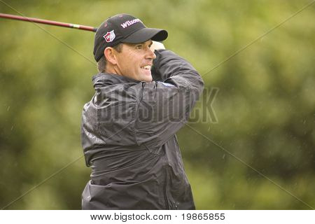KENT UK JULY 6 Ireland's Padraig Harrington competing at the PGA European Tour European Open at the London Golf Club Ash Kent England from the 2nd to 6th July 2008
