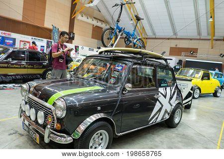 Serdang, Selangor Malaysia - July 29,2017 : Mini Cooper Car On Display During The Art Of Speed Festi