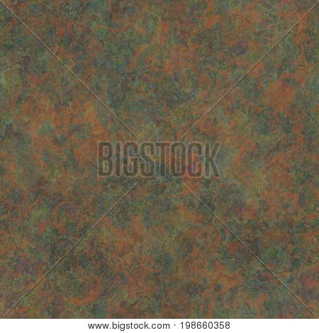 Corroded metal texture. Seamless colorful pattern. Digital illustration.