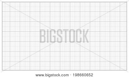 Millimeter Paper Vector. Grey. Graphing Paper For Engineering, Education, Drawing Projects. Graph Grid Paper Measure