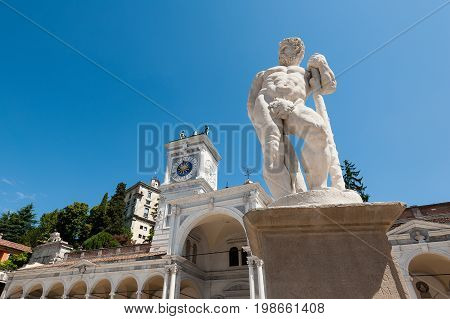 Statue Of The 16 Century. Statue Of Hercules.