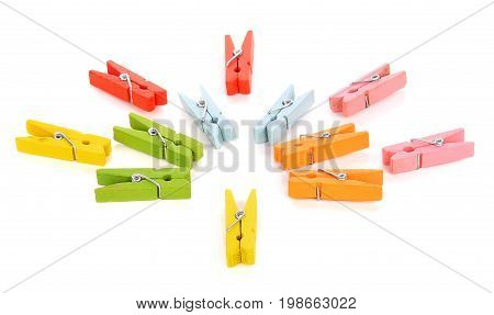 Colorful clothes pin or Colorful clothes peg