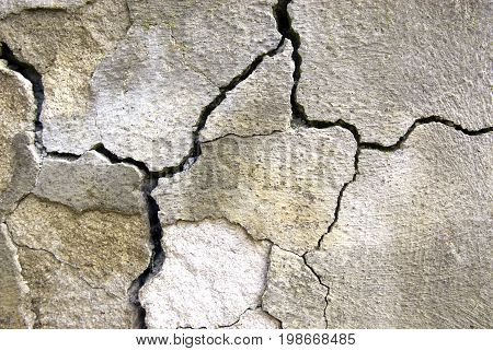 Cracked concrete , abstract backgrounds , brown