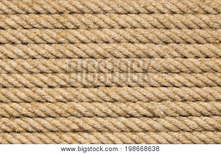 Old Yellow Rope Background, industrial strong knot