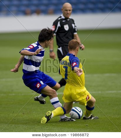 LONDON, UK AUGUST 2, Kaspars Gorkss at the pre-season friendly football match between QPR and Chievo,