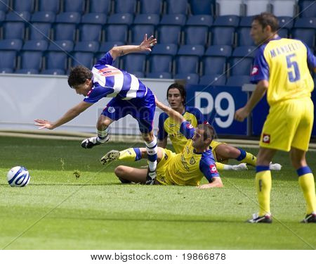 LONDON, UK AUGUST 2,Marco Malago fouls Kaspars Gorkss the pre-season friendly football match between QPR and Chievo,