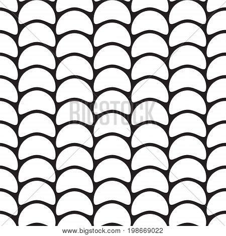 Abstract Seamless Pattern - Semicircular Segments