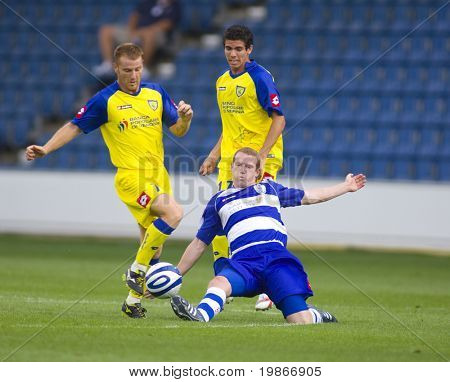LONDON, UK AUGUST 2, Damien Delaney and Michele Marcolini at the pre-season friendly football match between QPR and Chievo,