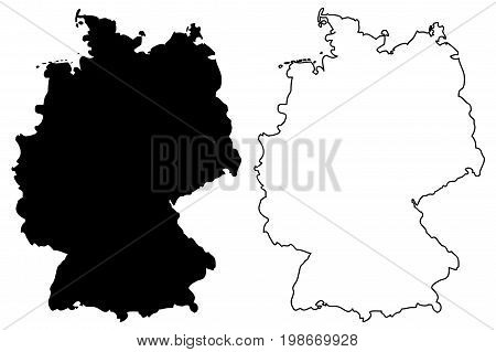 Germany map vector illustration , scribble sketch Germany