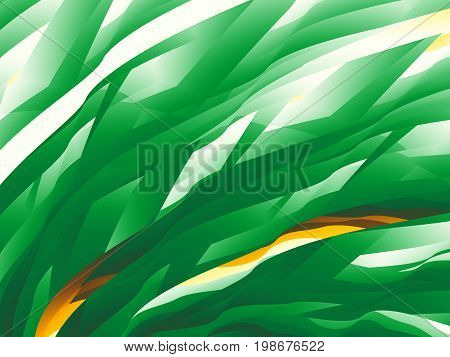 Green abstract fractal background with a dynamic pattern resembling grass.