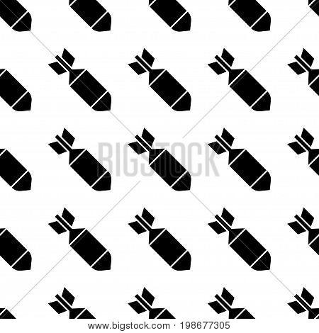 Air bomb seamless pattern. Vector illustration cartoon bomb. War ornament