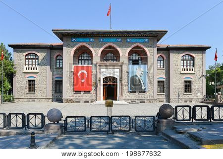 ANKARA, TURKEY - 16 JULY 2017: The first Parliament Building of Republic of Turkey. The building was used until October 18,  1924.  Currently, it is serving as  Museum of War of Independence
