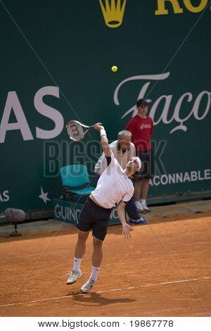 20. APRIL Nicolas Kiefer (GER) im Wettbewerb im Finale des ATP-Masters-Tourname MONTE CARLO MONACO
