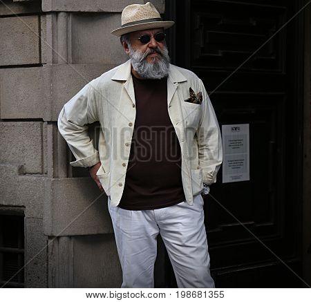 MILAN- 17 June 2017 Gianni Fontana on the street during the Milan Fashion Week