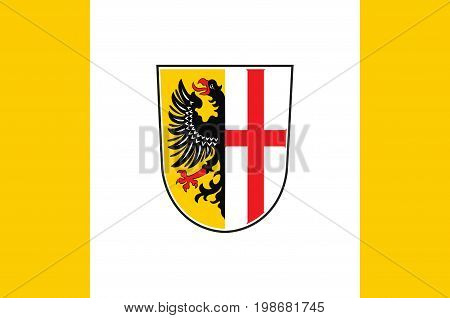 Flag of Memmingen is a town in Swabia Bavaria Germany. Vector illustration