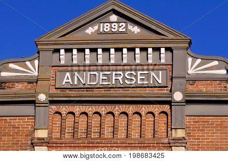 Nineteenth Century Building Facade made of brick