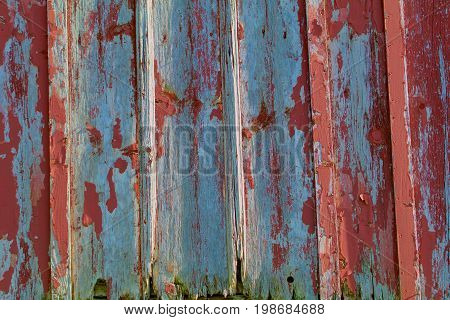 red and grey Weathered Bleached Barn Wood