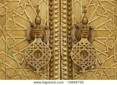 Palace door in Fez, Morocco