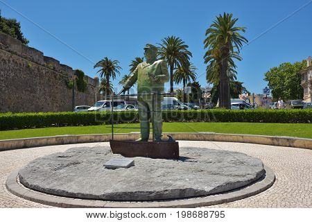The Statue Of Dom Carlos I King Of Portugal