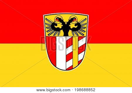 Flag of Swabia is one of the seven administrative regions of Bavaria Germany. Vector illustration
