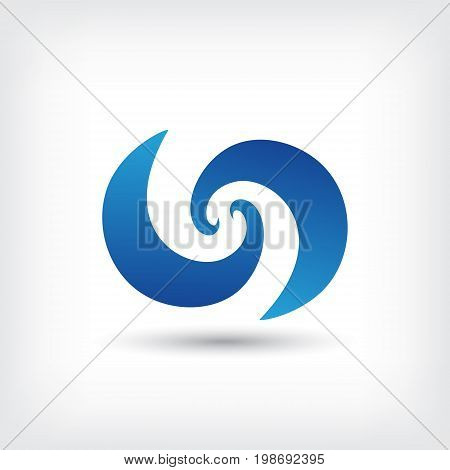 curve vector logo design template, wave icon, spiral sign, twist symbol, vector illustration