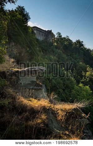 Lerma, Piedmont, Italy - The Marked Path Of The Ricetto