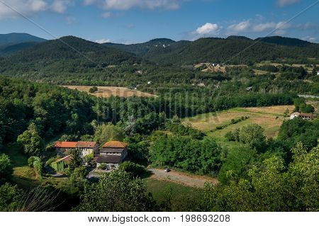 Lerma, Piedmont, Italy - Landscape With The Old Mill And The Torrent Piota