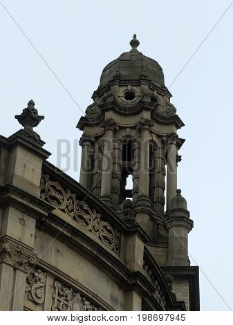 decorative stone cupola on a building in halifax yorkshire