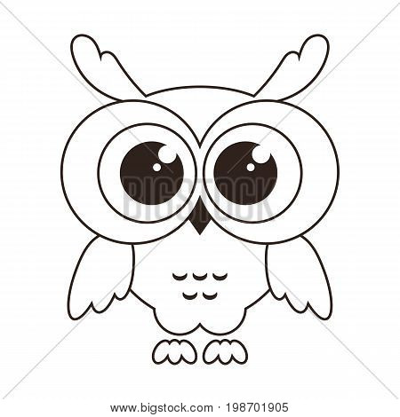 cute owlet icon isolated on white background