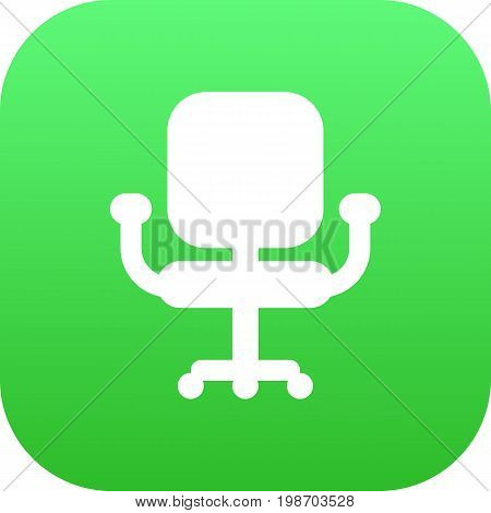 Isolated Chair Icon Symbol On Clean Background