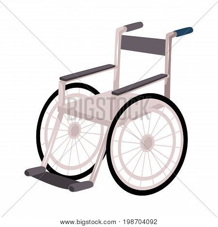 Medical rehabilitation, recovery after trauma, no more need for wheelchair or crutches, cartoon vector illustration on white background. Rehabilitation, recovery after wheelchair, crutches
