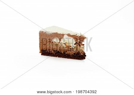 Mousse Cake With An Isolated White Background