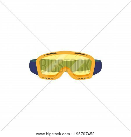 vector snowboarding goggles , mask flat icon. Isolated illustration on a white background. Snowboard, ski winter activity equipment, tools object design.