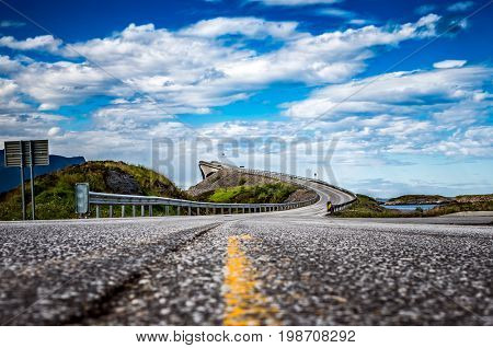 Norway Atlantic Ocean Road or the Atlantic Road (Atlanterhavsveien) been awarded the title as