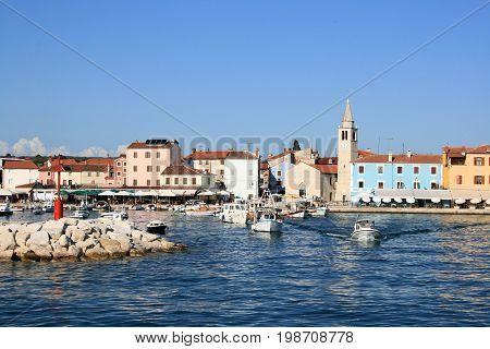 view on the small town Fazana in Istria, Croatia