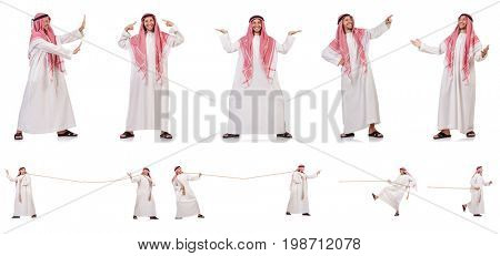 Arab man isolated on white background