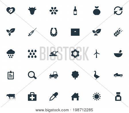 Vector Illustration Set Of Simple Agriculture Icons