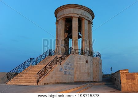 Great Siege Memorial in Valletta, Malta, Europe