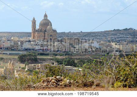 Church of Saint John the Baptist in Xewkija, Gozo, Malta