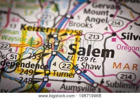 Salem, Oregon On Map